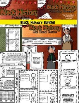 Black History Bundle- Worksheets, Foldables, and Old Maid