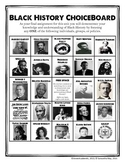 Black History ChoiceBoard (+ Rubric)