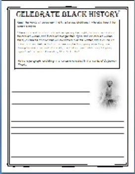 Black History Figurative Language, Opinion Writing and Pic