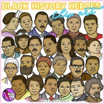 Black History Heroes Clip Art: crayon effect clipart