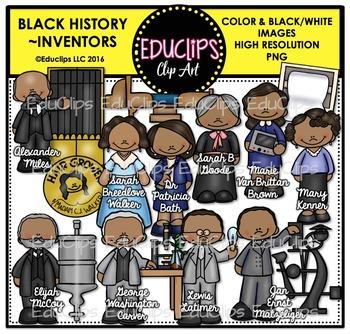 Black History ~ Inventors Clip Art Bundle {Educlips Clipart}