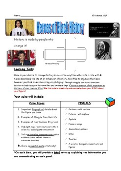 Black History: Learning Cube