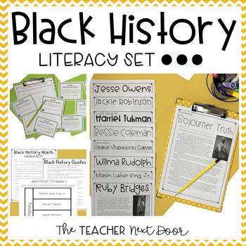Black History Literacy Set for 3rd - 5th Grade