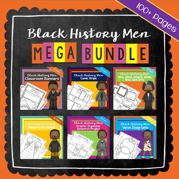 Black History Men Mega Bundle | Printable Worksheets | Bla