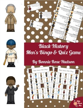 Black History Men's Bingo and Quiz Game
