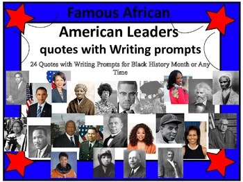 Black History Month African American Quotation Writing Prompts
