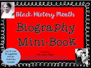 Black History Month Biography Book