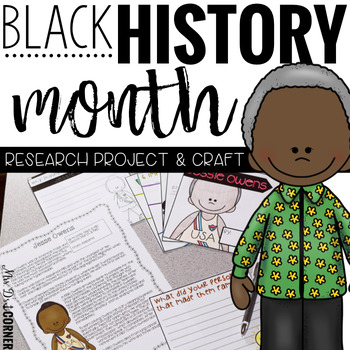 Black History Month Biography Research and Craftivity (Bio