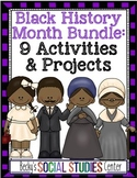 Black History Month Bundle for Middle School - 9 Activitie