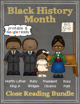 Black History Month Close Reading Bundle