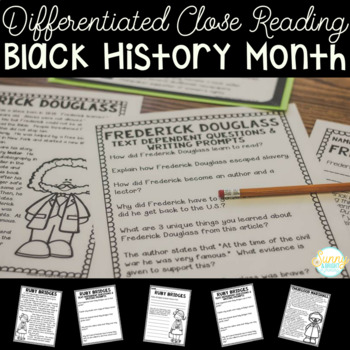 Black History Month Unit- Differentiated Texts- Close Read