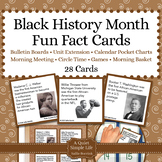 Black History Month Unit Activity - Fun Fact Cards for Gam