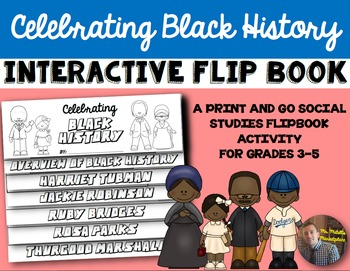 Black History Month Flip Book: A Comprehension by Color In
