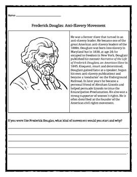 Black History Month: Frederick Douglass, anti-slavery