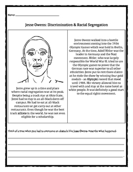 Black History Month: Jesse Owens, discrimation, racial seg