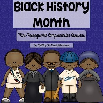 Black History Month: Mini-Comprehension 2 Passage Freebie!