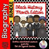 Black History Biography BUNDLE Comprehension Activities