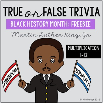 Black History Month Multiplication | Martin Luther King