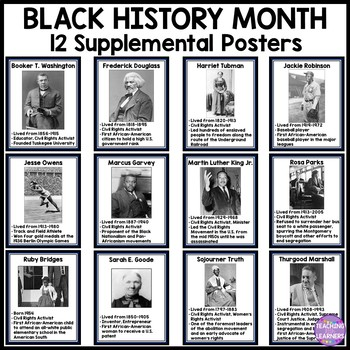 Black History Month Posters- Real Images