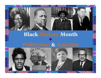 Black History Month Posters ~ Activists & Politicians