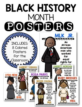 Black History Month Posters for Kindergarten and First Gra