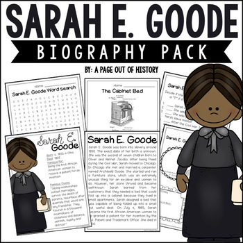 Black History Month: Sarah E. Goode Mini Unit
