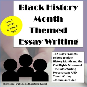 African-American/ Black History Month Themed Essay Writing
