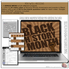 Black History Month Video Notes & BINGO Menu Board (Google Drive Resource)