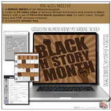 Black History Month Video Notes & BINGO Menu Board (Google