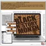 Black History Month Video Notes & BINGO Menu Board (Google