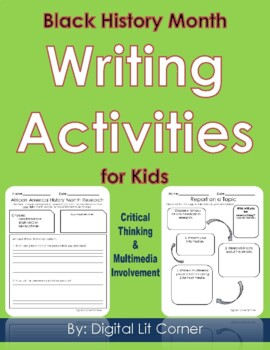Black History Month Writing & Media Literacy Activities for Kids