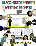 Black History Month Bios and Writing Prompts: Project and Respond