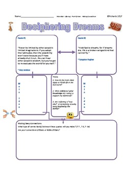 Black History - Reading Assessment: Main Idea Making Connections