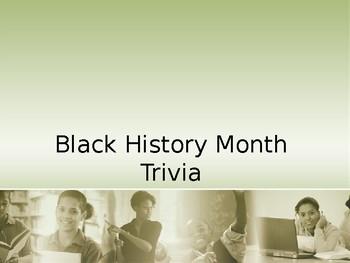Black History Trivia Power Point