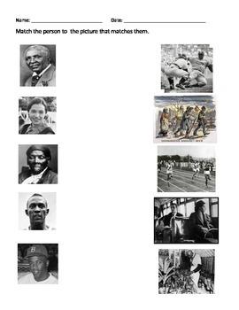 Black History Worksheets