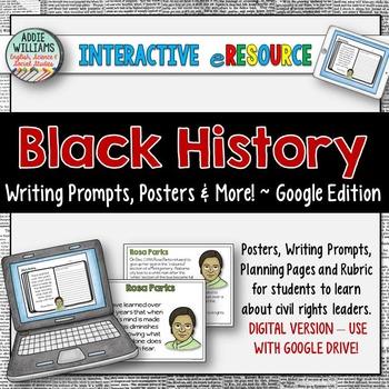 Black History Month Writing - Google / Digital Version
