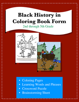 Black History in Coloring Book Form
