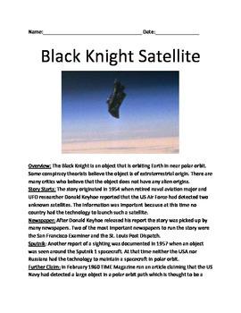 Black Knight Satellite - extraterrestrial satellite inform