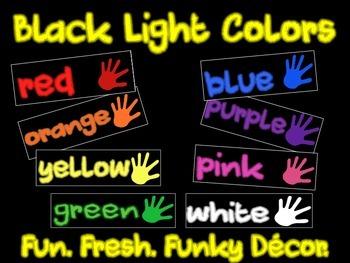 Black Light Colors Fun Decor