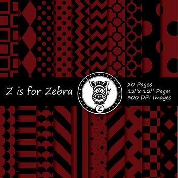 Black / Maroon dual tone Digital Paper Pack  - CU ok { Zis