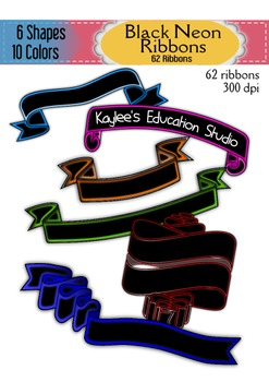 Black Neon Ribbons