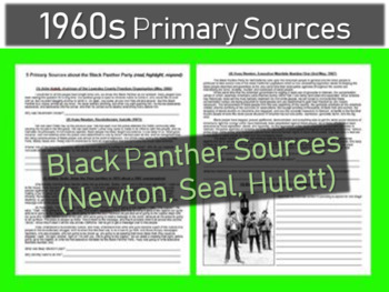 Black Panther Document of various Primary Sources,with gui