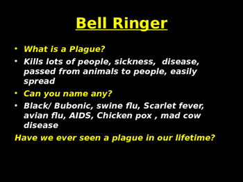 Black Plague: Rise the spread, the effects on society