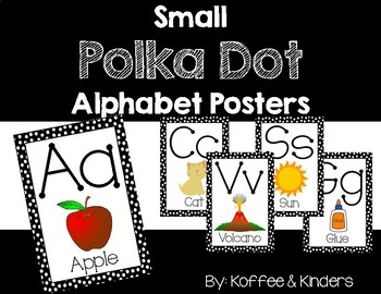 Black Polka Dot - Alphabet Cards (Small)