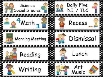 Polka Dot Theme Classroom Labels- black