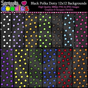 Black Polka Dotty Backgrounds
