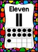 Black Rainbow Polka Dot Tens Frame Number Cards
