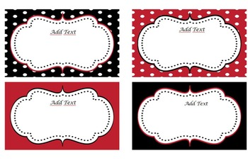 Black, Red & White Cards