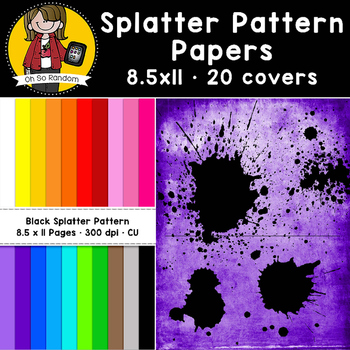 Black Splatter Pattern Papers (CU)