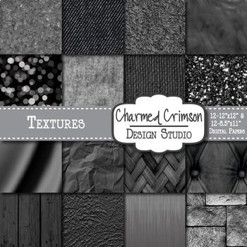 Black Texture Background Digital Paper 1333